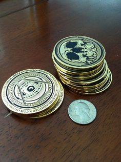 #business #card #emboss #gold #skull