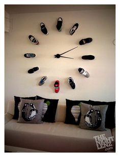 teen rooms, sneaker, heel, teen boys, wall clocks