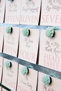 Magnet seating chart    Missy K Photography