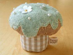 Cupcake van stof en vilt