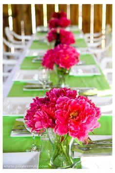 Pink and green  wedding @DannyMandi Luebbers @Misty Schroeder Schroeder Luebbers