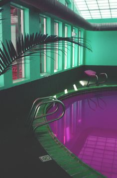 How did they get a purple pool??