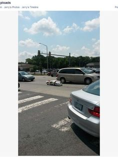 Dead body falls out of coroner's van - At least nobody was hurt.