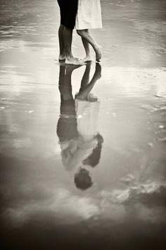Shall We Dance? B & W  #love #romance #couple #water #beach