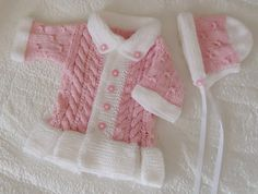 Sweets baby set in pink and withe. $55.00, via Etsy.