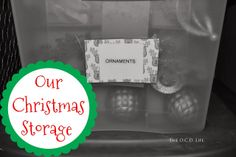 The O.C.D. Life: Our Christmas Storage!