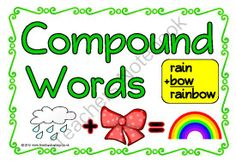 Compound Words from Treetop Displays on TeachersNotebook.com -  (17 pages)  - A set of 17 A4 posters showing how compound words are formed. Includes: a title poster, an explanatory poster and 15 posters of different compound words. With visual pictures, this set will help children understand compound words.