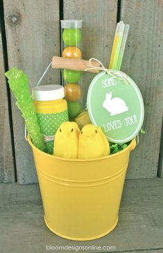 Some Bunny Loves You Bucket with printable tag