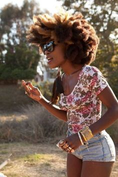 That Fro Tho - http://www.blackhairinformation.com/community/hairstyle-gallery/natural-hairstyles/fro-tho/ #naturalhairstyles