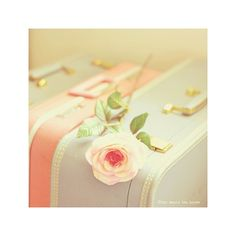 #Pastel | #Luggage | #Suitcase | #Vintage | #Girly | #Travel | #Pretty | #Decoration | #Flower | #Roses