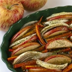 Maple Roasted Carrots and Apples by theheritagecook