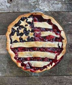 American Flag Pie from The Winthrop Chronicles   Fantastic 4th of July Recipes