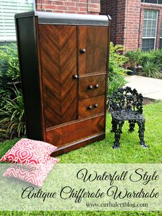Curb Alert!: Waterfall Style Antique Chifferobe Wardrobe