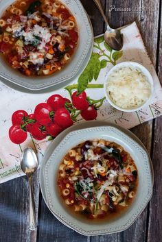 Garden Minestrone Soup - Fresh, healthy, and packed with flavor and veggies from Pressure Cooking Today