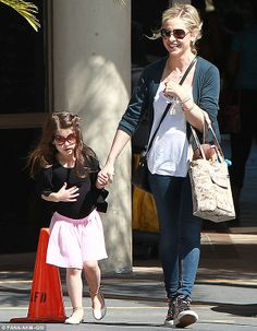 Learning early! Sarah Michelle Gellar's daughter Charlotte wore stylish sunnies on the way to ballet class in Sherman Oak, California on Saturday