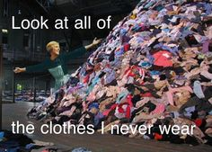 cleaning the closet