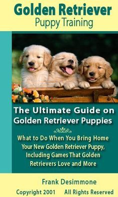 Golden Retriever Puppy Training: The Ultimate Guide on Golden Retriever Puppies, What to Do When You Bring Home Your New Golden Retriever Puppy, Including Games That Golden Retrievers Love and More by Frank Desimmone. $3.99