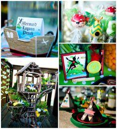 Neverland + Tinkerbell Themed Birthday Party with SO MANY Cute Ideas via Kara's Party Ideas KarasPartyIdeas.com #nevrlandparty #peterpan #tinkerbell #captainhook #partyideas #partydecor