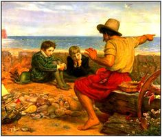 """The painting """"Boyhood of Raleigh,"""" 1871, by John Everett Millais (1829-1896). Source: Wikipedia. Read more on the GenealogyBank blog: """"Family Stories Are Important for Children's Health & Happiness."""" http://blog.genealogybank.com/family-stories-are-important-for-childrens-health-happiness.html"""