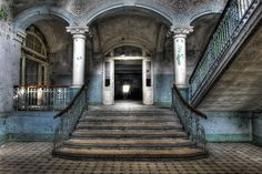 Berlin-based photographer Axel Hansmann has managed to coax the charm out of grim settings, like this former Soviet military hospital in Beelitz, Brandenburg. Many of his photos, which are digitally manipulated, depict forgotten structures from the communist era of the former East Germany.