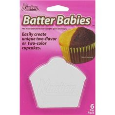 These Batter Babies allows you to easily create unique two-flavor or two-color cupcakes.