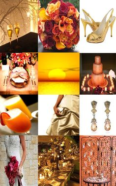 Wedding color scheme possibility-- Sunset & Champagne