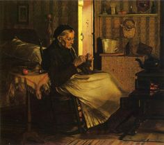 Title:	Home Comfort  Artist: John George Brown  Country of Origin: United States of America