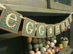 Easter Decor EGG HUNT Garland Easter Banner / Spring / Perfect To Hang Above Your Easter Baskets