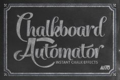 Chalkboard Automator - Chalk Effects by Matt Borchert on Creative Market