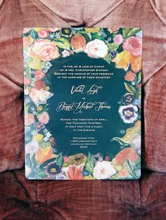 romantic floral wedding invitation | Photo by Whitney Neal |