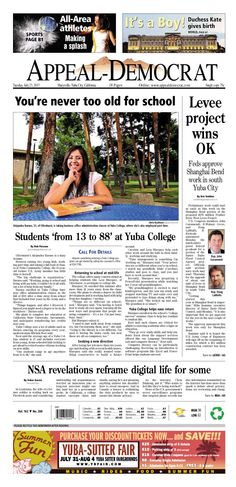 Appeal-Democrat front page for Tuesday, July 23, 2013.
