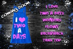 I Love Two A Days Tank Top Fitness Workout Gym