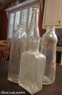 clean old bottles tutorial <3