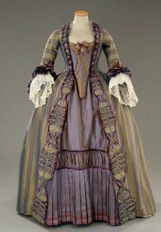 Source unknown ( thanks, random upload ), but this dress appears Georgian in origin. Not sure if it's original or reproduction, but it love the colors!