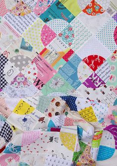 Drunkard's Path Quilt - Sewing curves without pins - Red Pepper Quilts