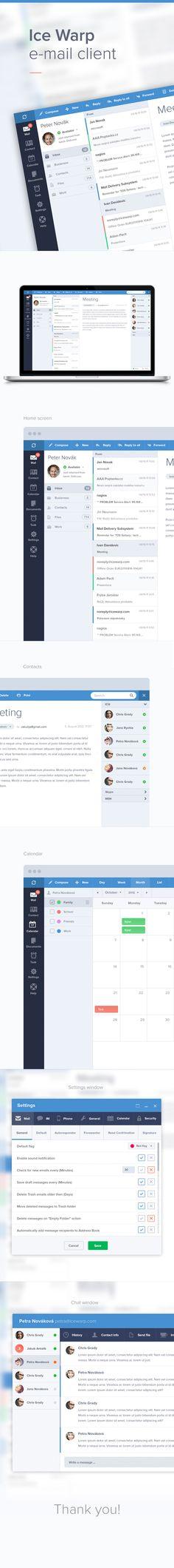 E-mail client - on @Behance: http://www.behance.net/gallery/E-mail-client/8626803