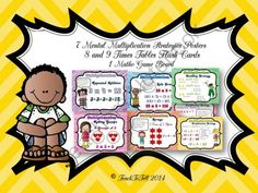 MULTIPLICATION STRATEGIES POSTERS FREEBIE from TeachToTell on TeachersNotebook.com -  (16 pages)  - This resource features 6 posters featuring the common mental multiplication strategies. Each poster showcases an example of the strategy with colorful illustrations.