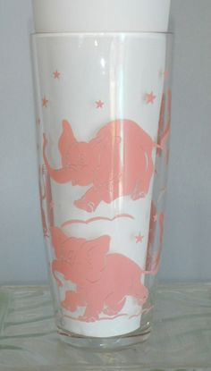 Vintage Pink Elephant Cocktail Shaker-Hazel Atlas. $70.00, via Etsy.