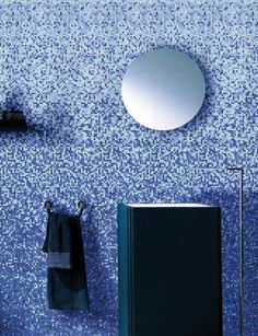 Wall Covering Mosaic Tiles From Mosaic+ - Mosaic tiles are good option to use on the bathroom walls. They are versatile and look great with low maintenance needs.