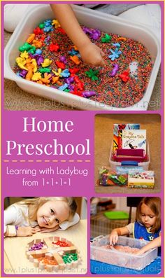 Home Preschool from @{1plus1plus1} Carisa {Integrity Time Bible, Spielgaben, All By Myself Preschool Boxes and more!}