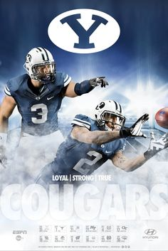 2013 BYU Football Poster by Dave Broberg