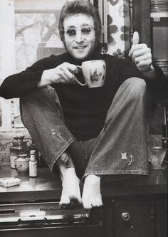 John Lennon with his
