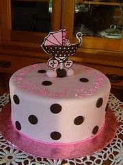 Modern Baby Shower Cake. A Chance of Showers can create a Baby Shower theme around this lovely cake. Like A Chance of Showers on facebook! http://www.facebook.com/chanceofshowersonline