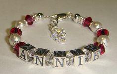 Baby/Toddler/Girl's Birthstone Name Bracelet