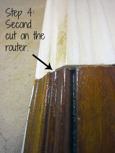 how to make a coping cut on baseboard