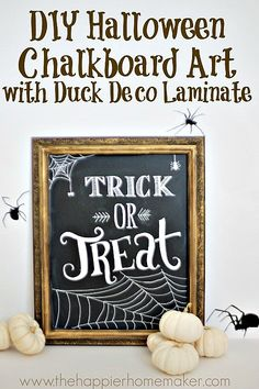 Chalkboard art adds a fun twist to Halloween decor.