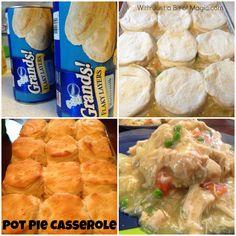 cook, tasti chicken, chicken pot pies, rotisserie chicken, chicken casserole dinners, homemade biscuits, chicken pot pie casserole, bags, dinner tonight