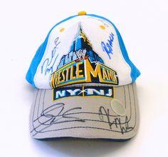 Wrestlemania 29 Hat Autographed by #WWE Stars Daniel Bryan, AJ, Santino, Ryback, Sheamus and More