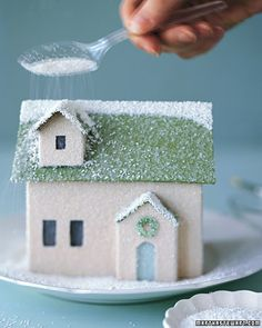 Free templates for tiny glittered houses
