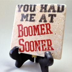 University of Oklahoma Boomer Sooner coaster $9